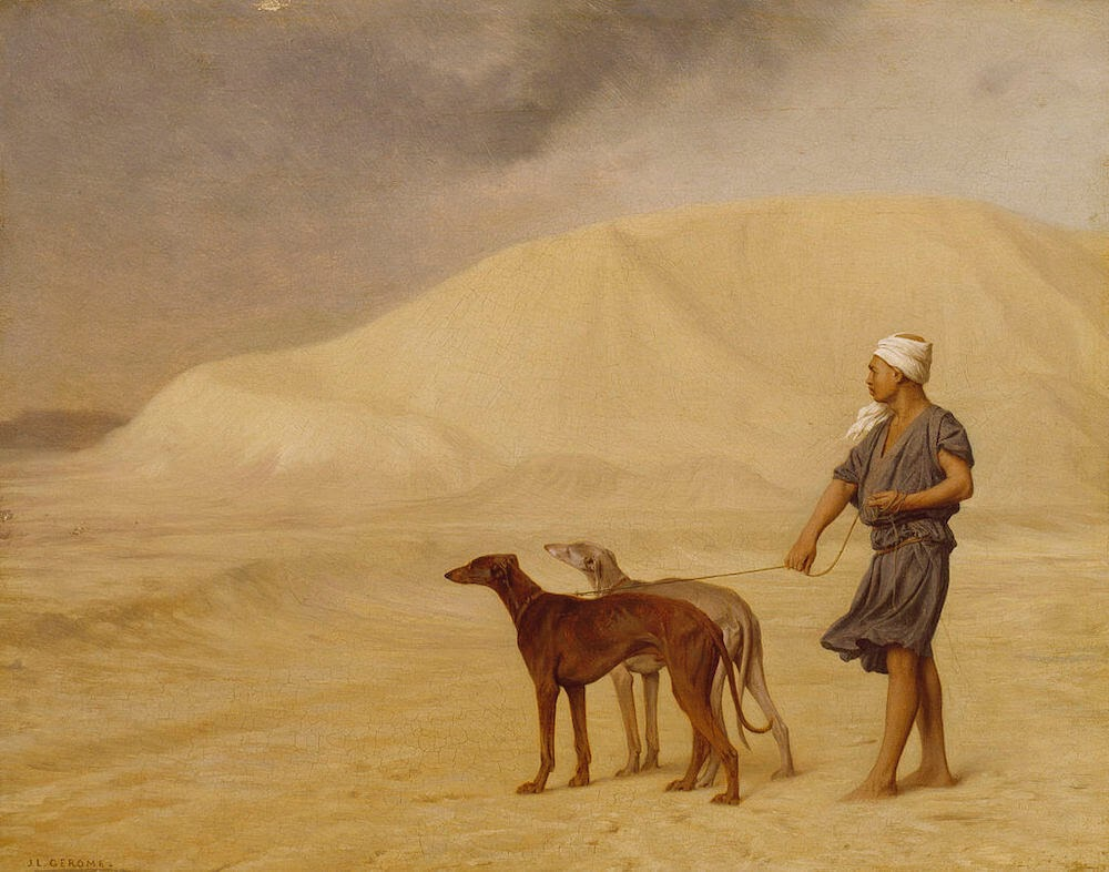 Jean-Léon_Gérôme_-_On_the_Desert_-_Walters used in an article on writing about travel.jpg