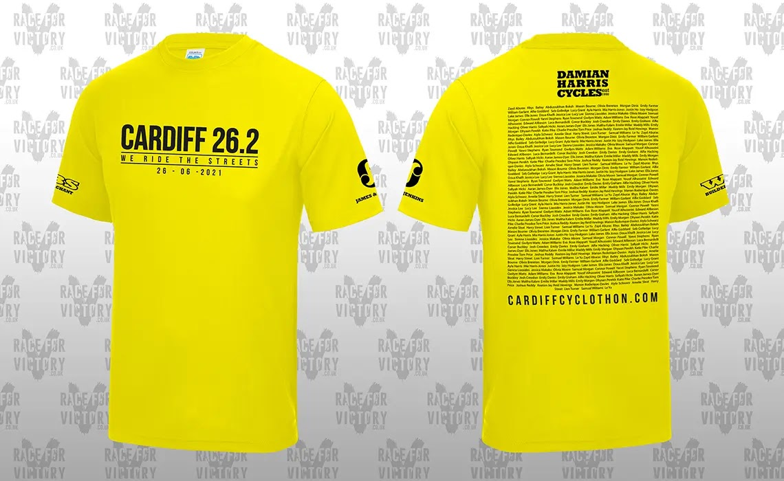 Cardiff 26.2- We Ride The Streets Technical T-shirt