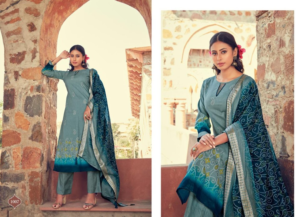 Buy Aahana Bandhej Pant Style Ladies Suits Catalog Online Wh