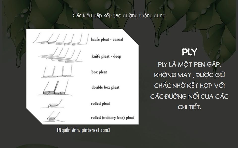 Khái niệm Chiết Ly, Ly sống, Dún (Dart, Pleat, Tucks, Gathers) 3