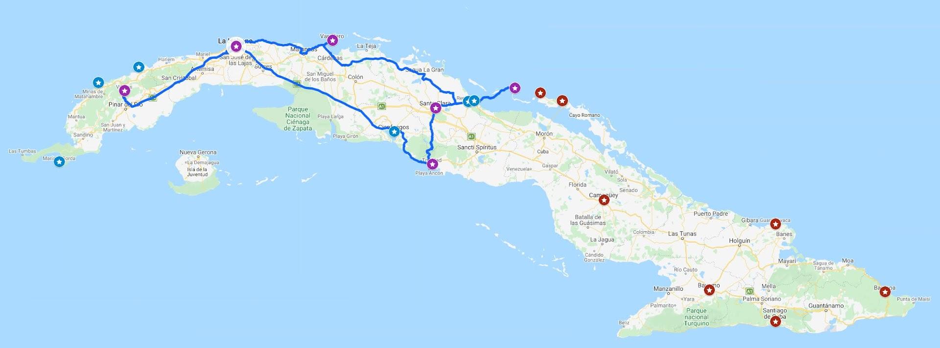 Itinerario viaje a Cuba