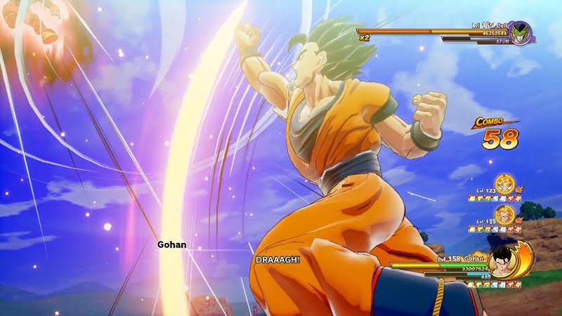 Son Gohan tung đòn Super Dragon Flight, melee attack lợi hại nhất của games
