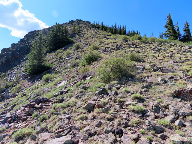 Last steep and rocky climb