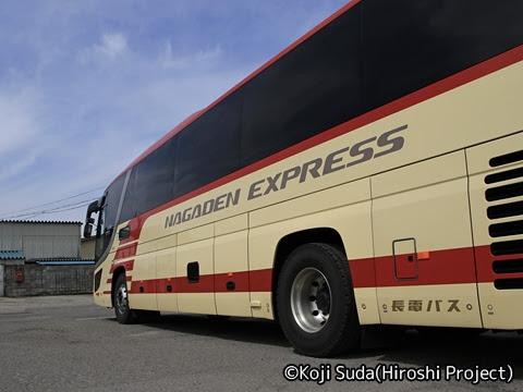 長電バス「ナガデンエクスプレス」大阪線 1453 サイドロゴ