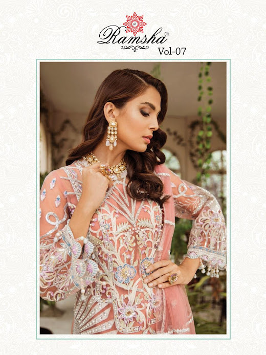 Buy Ramsha R 291 To 294 Pakistani Unstitched Ladies Suits Ca