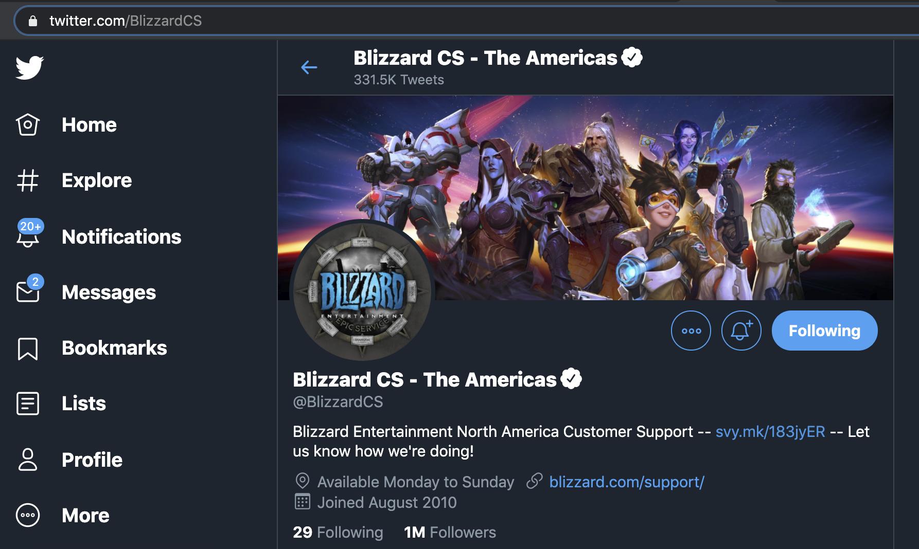 @BlizzardCS Twitter