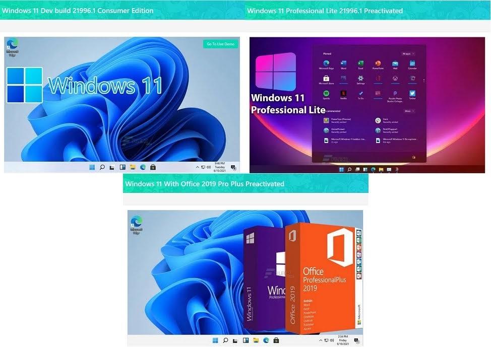Windows11 リーク デスクトップ例