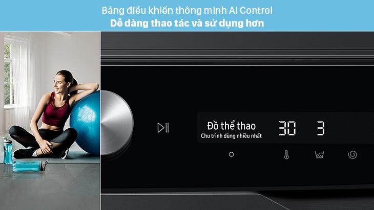 Bảng điều khiển thông minh AI Control trên máy giặt Samsung là gì?