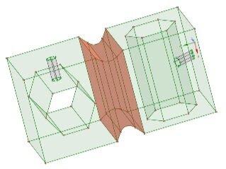 разделение геометрии на три блока