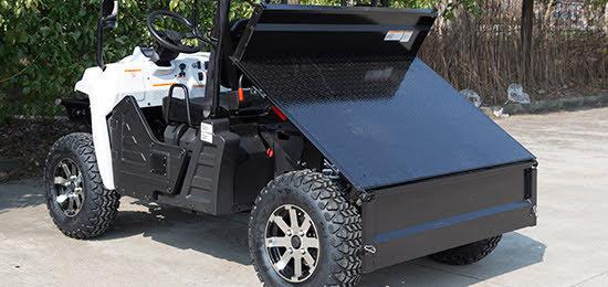 Electric E5 Farm UTV utility vehicle dash interior cabin