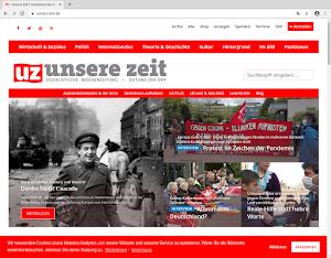 Bebilderte UZ Webseite.