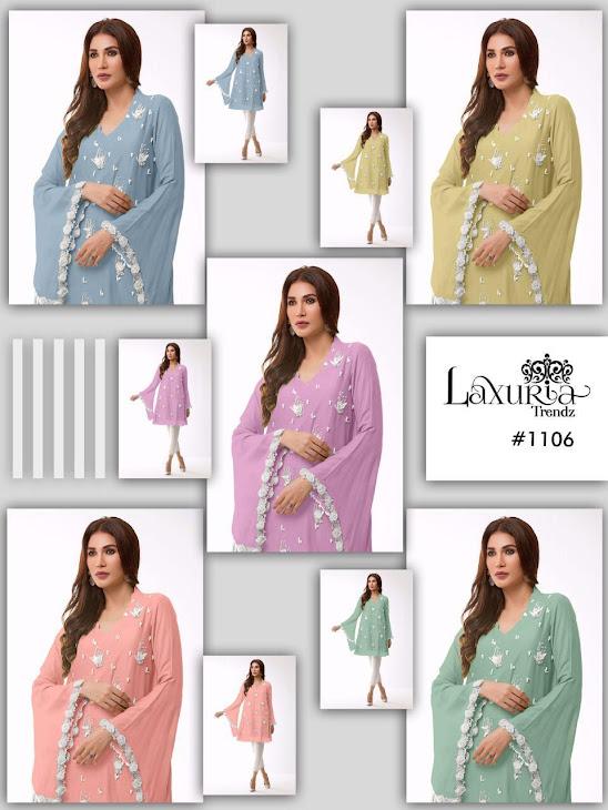 Series 1106 Luxuria Trendz Designer Top Pant Set Manufacturer Wholesaler