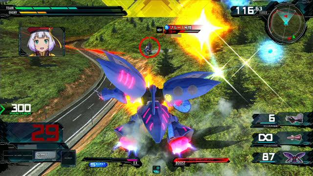 キュベレイMk-II(プル・ニュータイプ能力) 横特殊格闘→特殊射撃