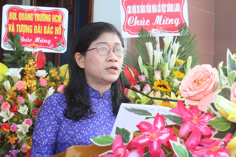 Bà Nguyễn Thị Thanh Hương, Phó Giám đốc Sở Văn hóa và Thể thao phát biểu