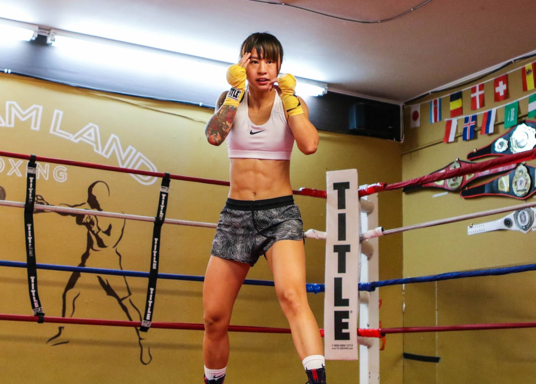 Vicky Zhao training for her professional debut at Dreamland Boxing in San Jose, CA