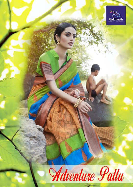 Adventure Pattu Siddharth Branded Sarees Manufacturer Wholesaler