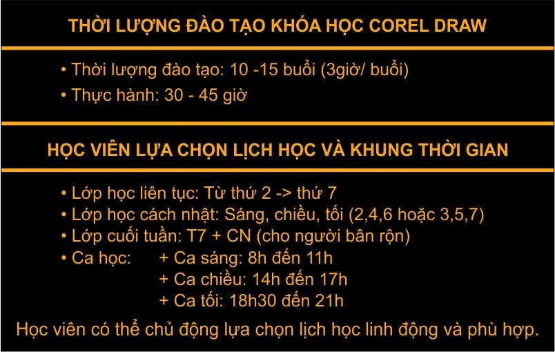 Lớp học corel ngắn hạn tại Bồ Đề Long Biên