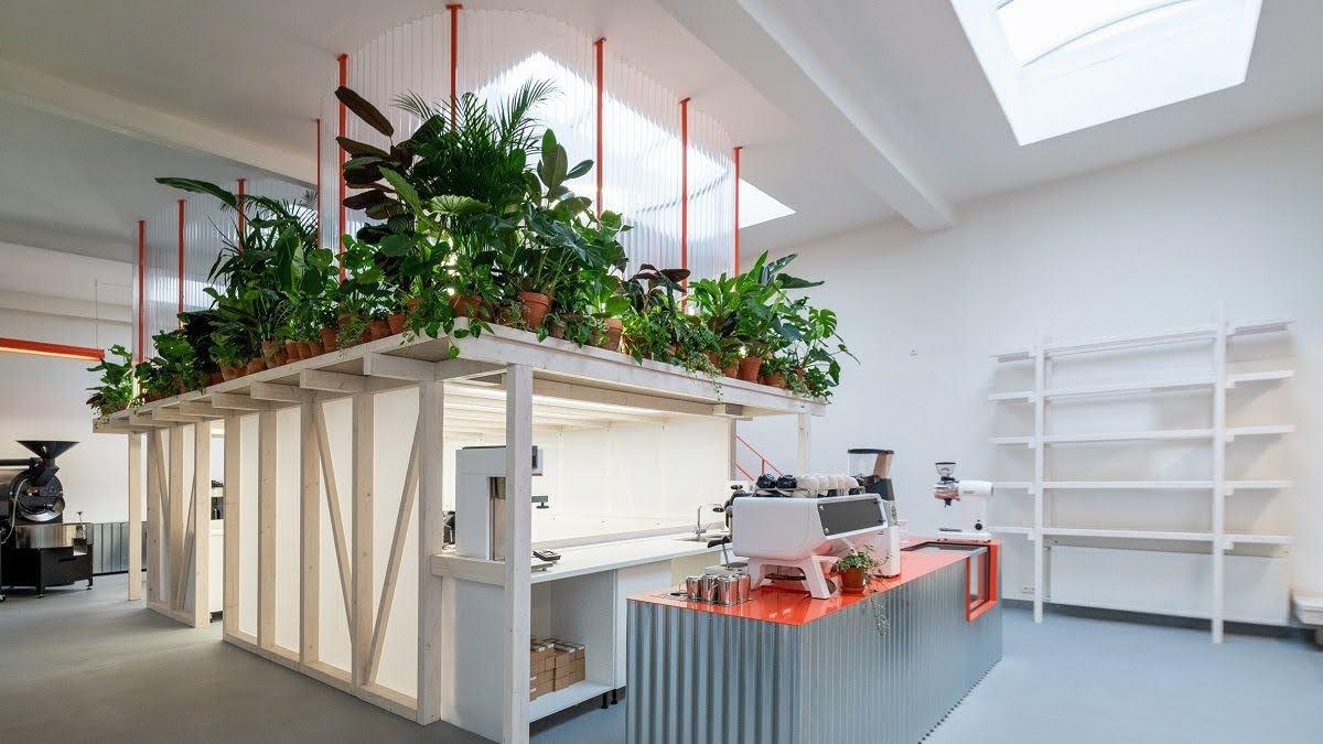 thiết kế quán cafe phong cách mở