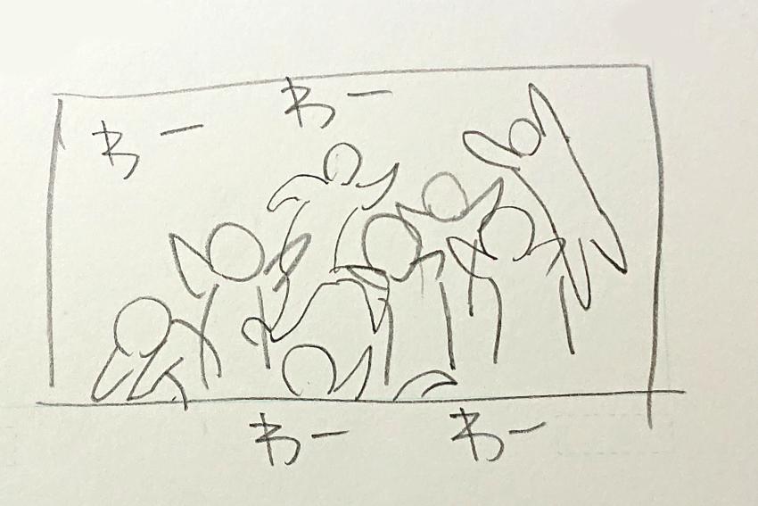 下描き(混雑)