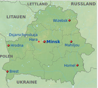 Grafik: Karte Belarus.