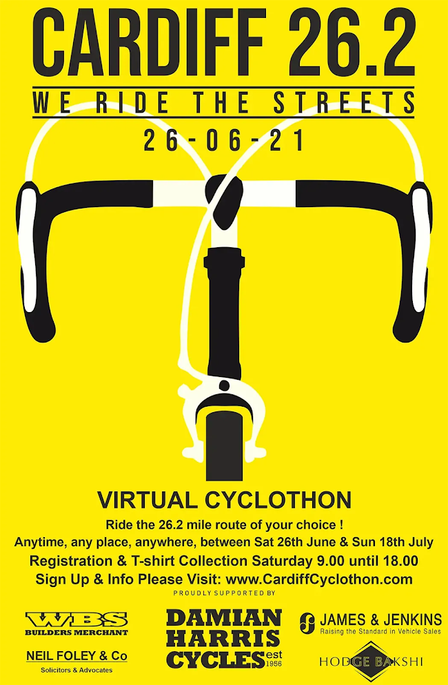 Cardiff Cyclothon 2021 Poster