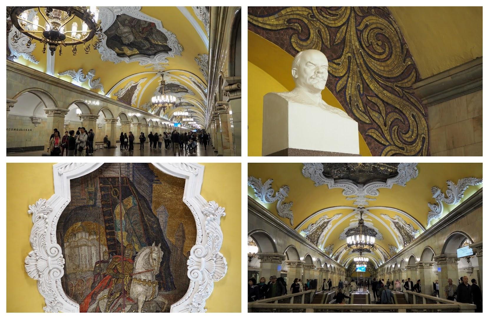 Komsomolskaya metro Moscú
