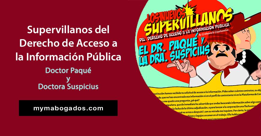 Solicitud Motivada de Información. El Dr. Paqué y la Dra. Suspicius | Melián Abogados