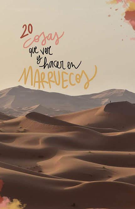 que ver y hacer en marruecos
