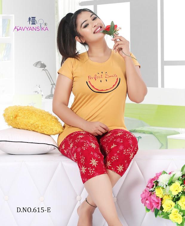 Kavyansika Vol 615 Capri Night Suits Catalog Lowest Price