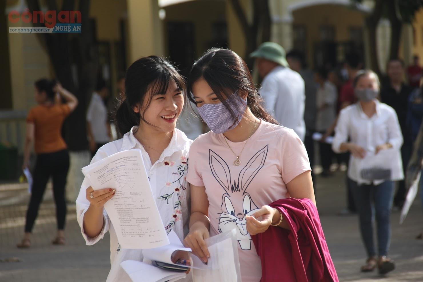 Các thí sinh Nghệ An dự thi THPT Quốc gia năm 2019
