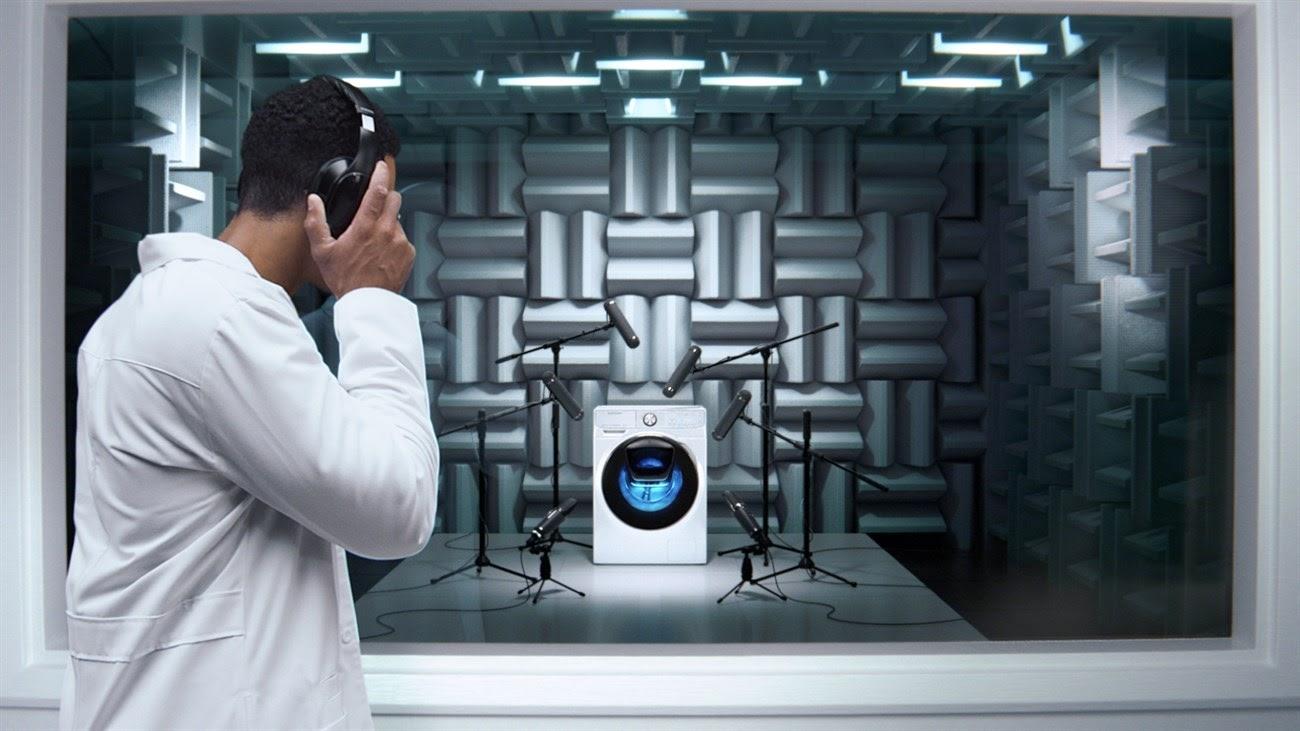 Thách thức tiếng ồn của máy giặt Samsung