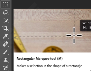 Rectangular Marquee tools