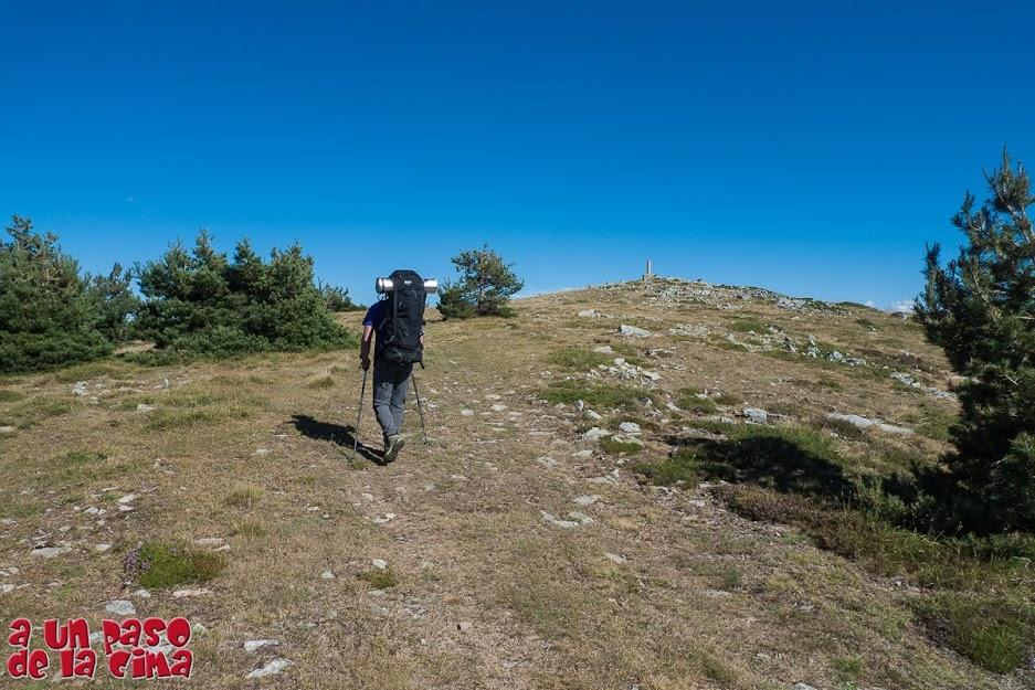 Llegando al Cerro Buey (2034 m).