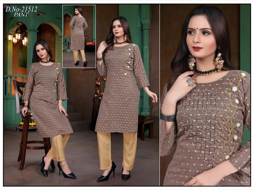 Simran Design No 21512 Kurtis Pant Set Catalog Lowest Price