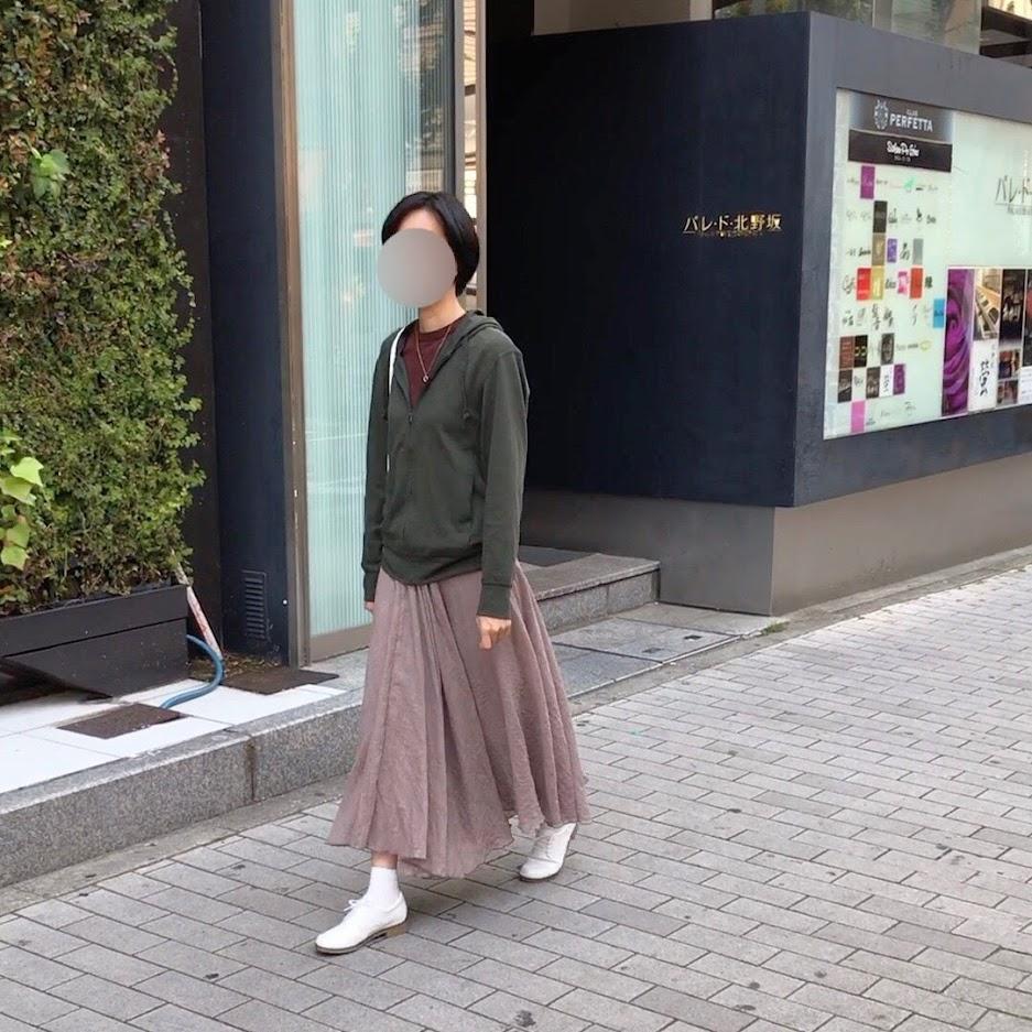 スカートのコディネート
