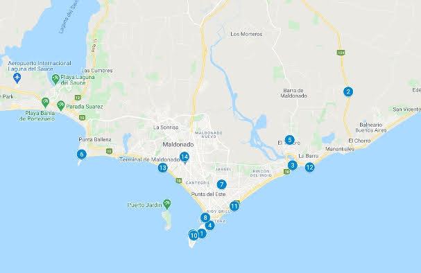 Punta del Este Map