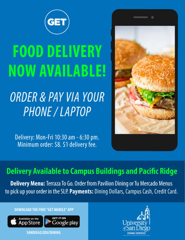 Food delivery on campus now available, order and pay via phone or laptop