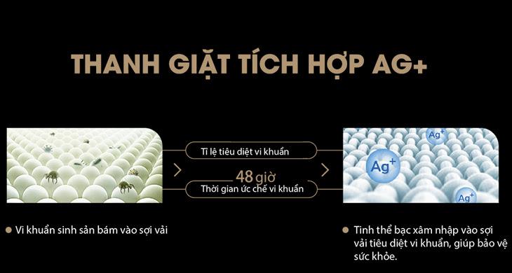 tinh thể ion bạc Ag+ trong quá trình giặt