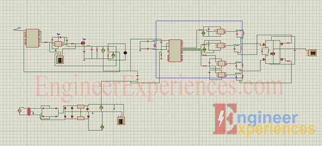 Complete project schematic for solar energy based Smart Hybrid Inverter
