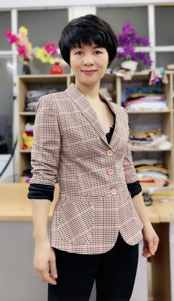 Áo vest nữ công sở kiểu peplum che bụng V739 thời trang thủy hà nội