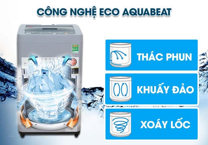 Công nghệ Eco Aquabeat trên máy giặt Panasonic
