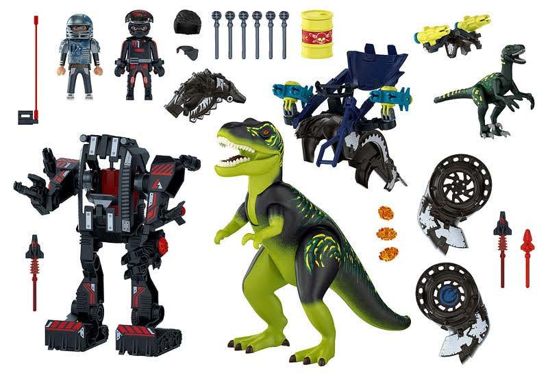 Contenido real de Playmobil® 70624 T-Rex: Batalla de los Gigantes