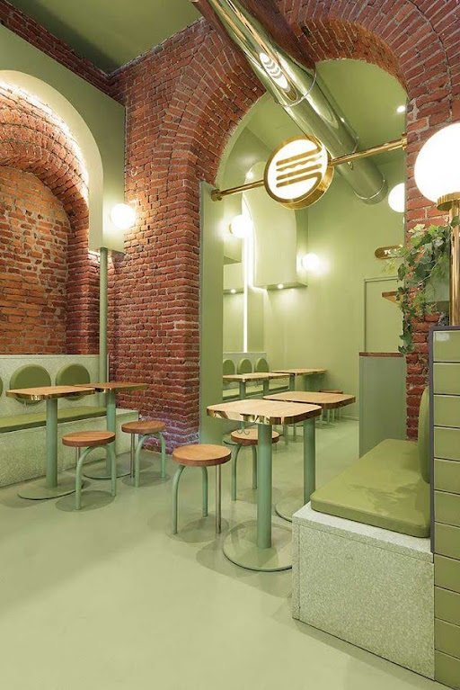 thiết kế quán hamburger