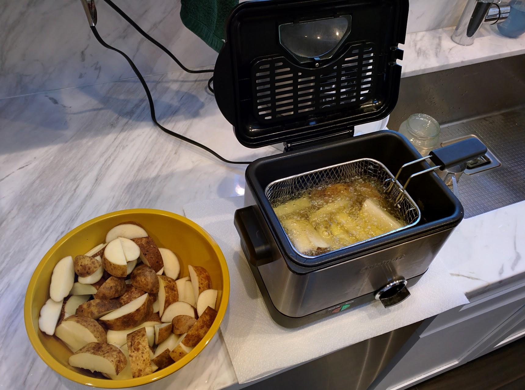 Potatoes in fryer