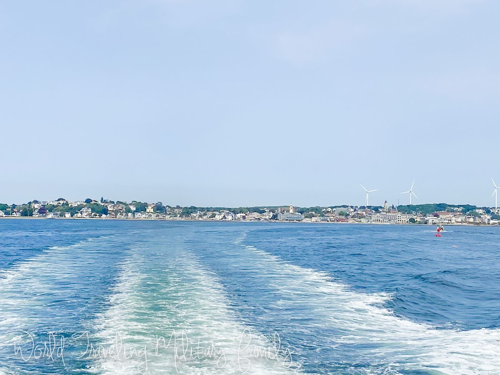 Cape Ann harbor from back of boat