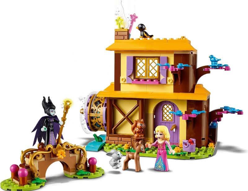 Contenido de Lego® 43188 Cabaña en el Bosque de Aurora
