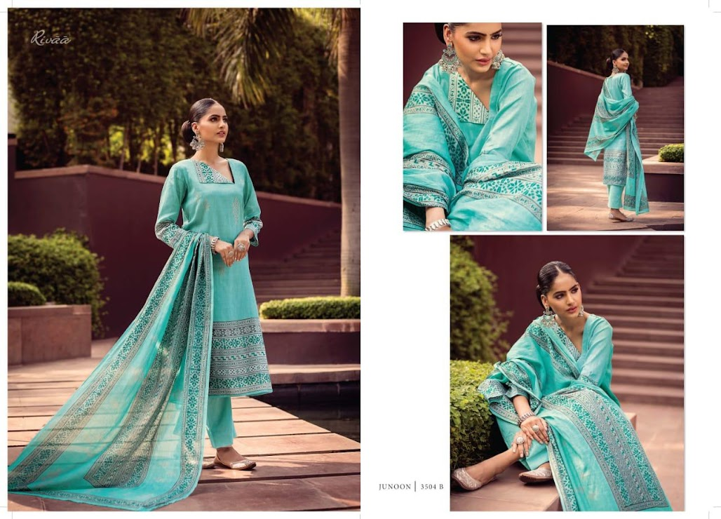Junoon Rivaa Pant Style Dress Material Manufacturer Wholesaler