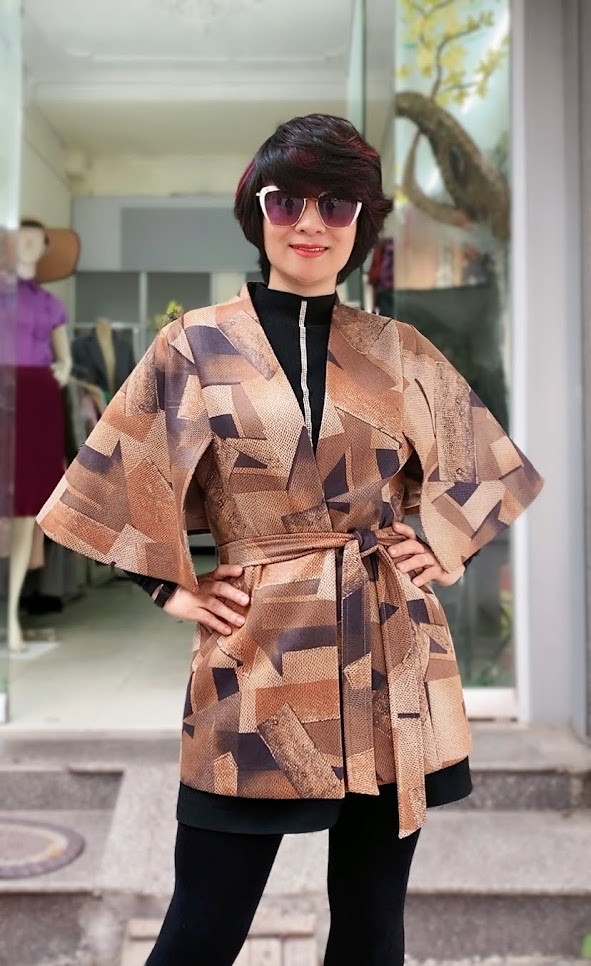 Áo khoác Cape nữ mix quần legging V748 thời trang thủy ở hà nội