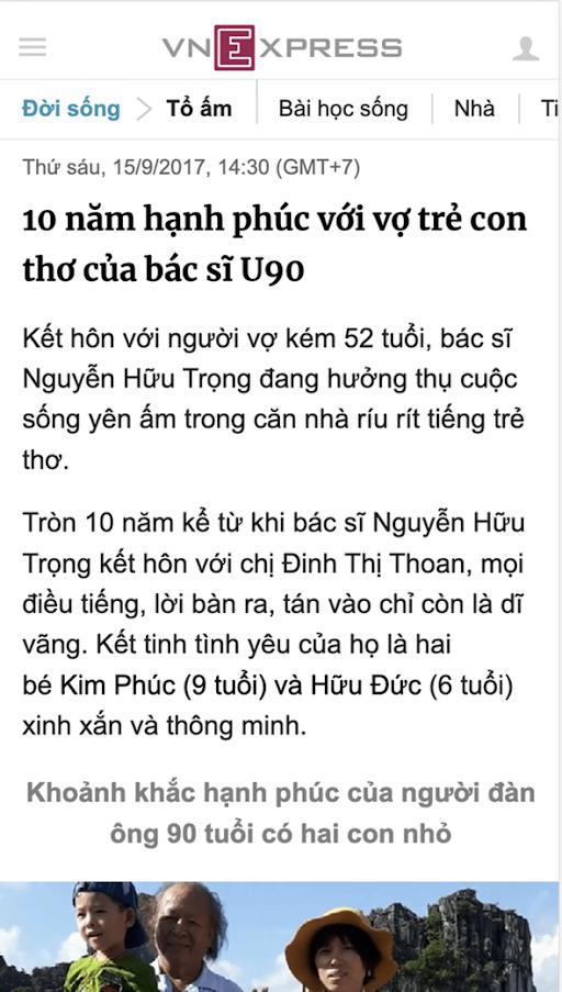 Bao VnExpress noi ve Truong Xuan Vuong