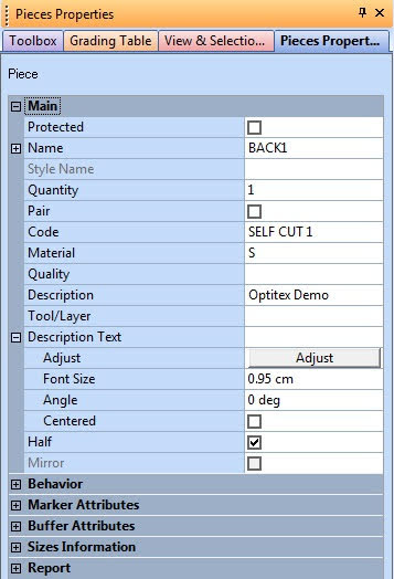 Piece Properties Trong Optitex 1